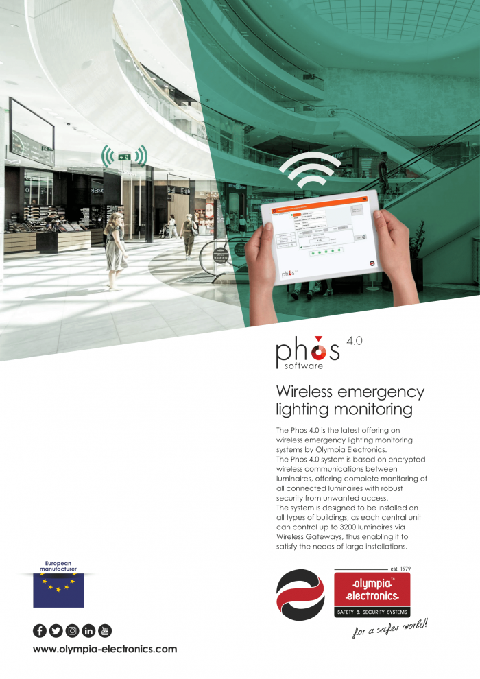 Phos 4.0 Wireless emergency lighting monitoring