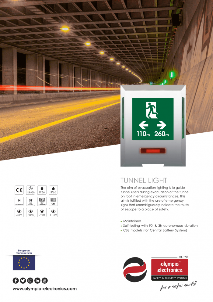 Tunnel Light New Brochure