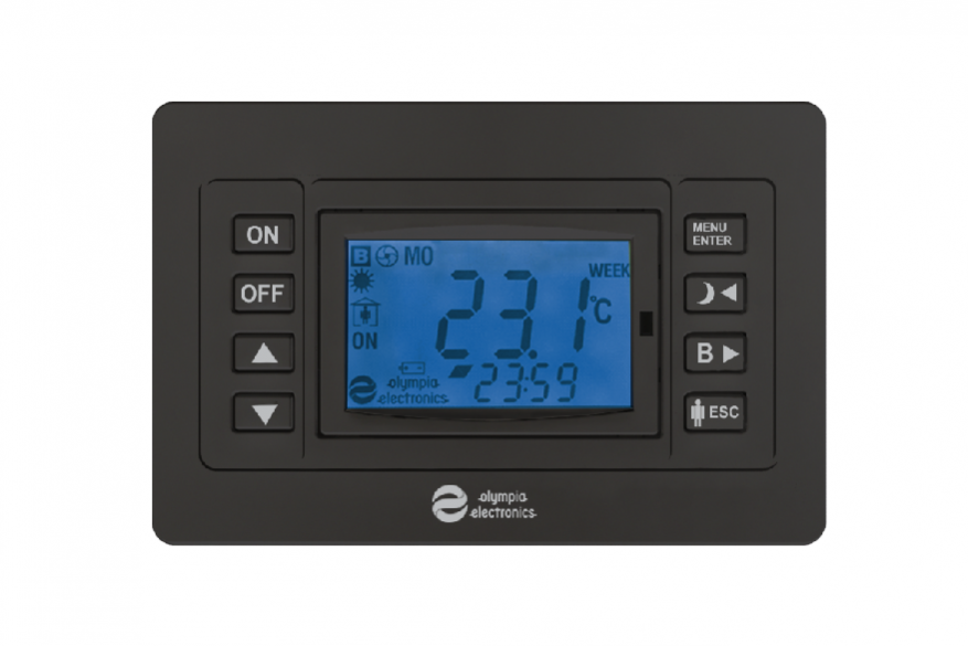 Thermostat in anthracite color