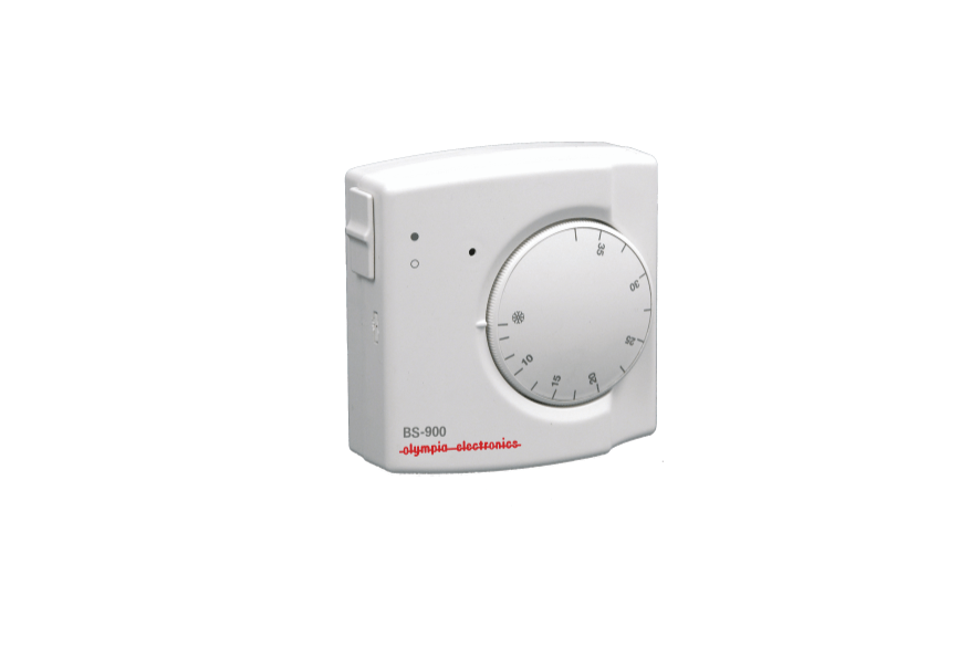 Bimetallic room thermostat