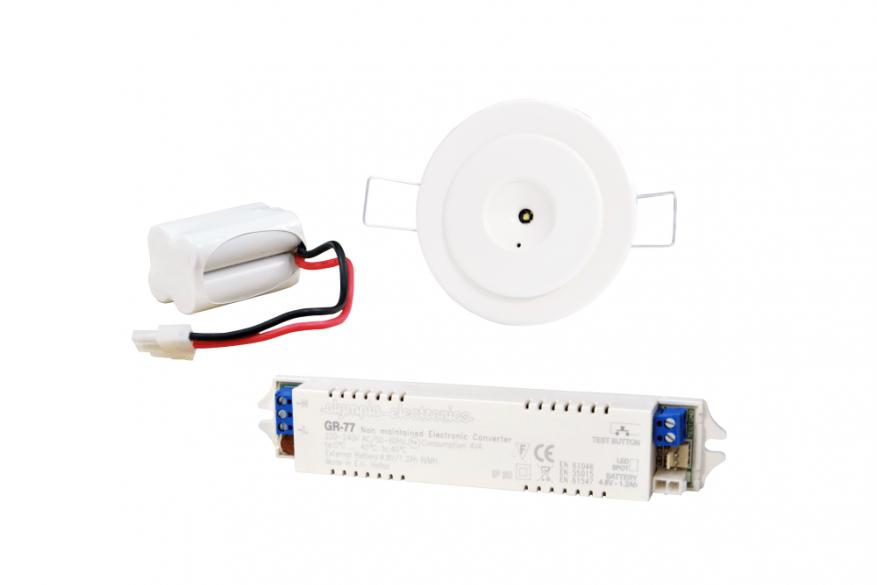 Φωτιστικά Ασφαλείας, Σετ ηλεκτρονικού μετατροπέα GR-77 με GR-84 Led φωτιστικό μη συνεχούς λειτουργίας led 1watt