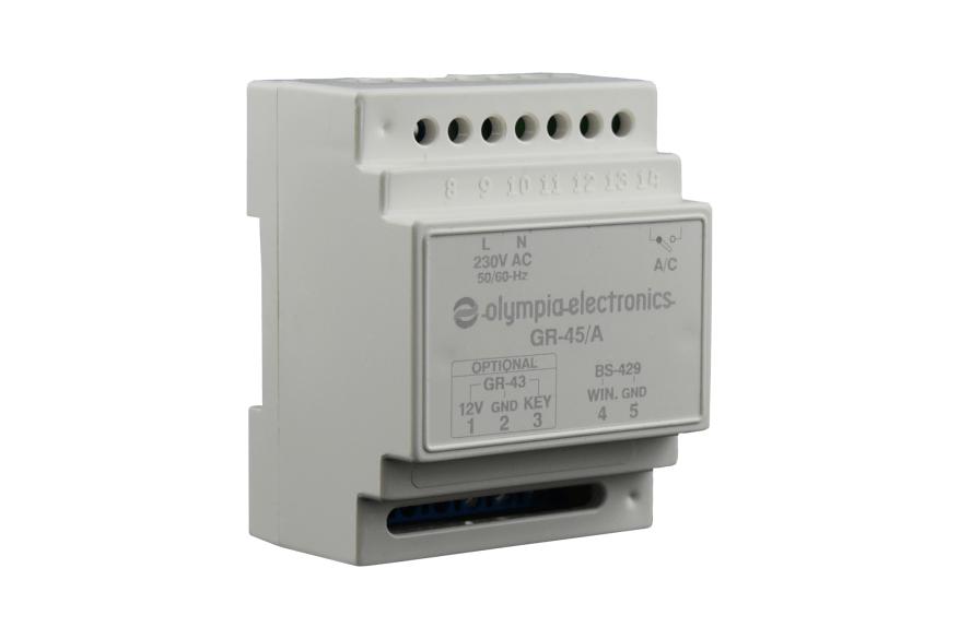 Door lock, lighting & A/C control unit (2x20A) resistive/12A inductive