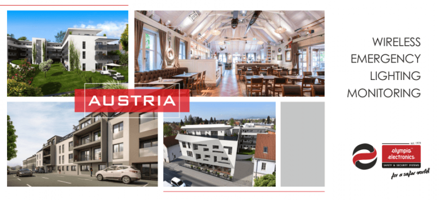 Installation of  the Wireless Emergency Lighting Monitoring System of OLYMPIA ELECRONICS in Austria